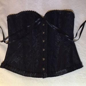 Tops - Steam punk black corset